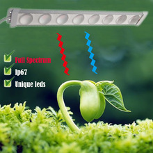 Full Spectrum Grow Light Tube Ultra slim Unique lens plant light bar IP67 450mm 660mm 730mm for Vegetable Flower houseplants