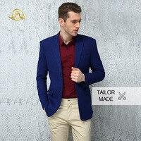 Wrwcm Custom Men Suit High Quality Custom Tailored Navy Blue Suit Support Enterprise Customization Gentleman Style Custom Made