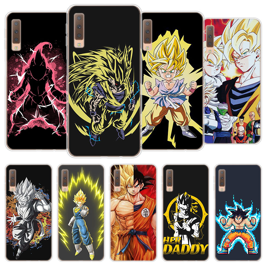 dragon ball z super saiyan Silicone Case for Samsung Galaxy A3 A5 A6 A7 A8 2018 A6 A8 Plus Soft TPU case for Galaxy A5 A6 A7 A8