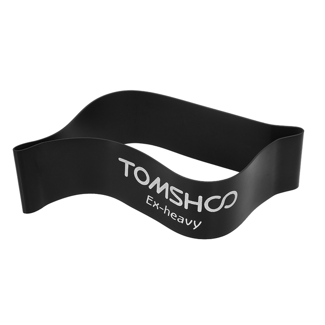 TOMSHOO Exercise Resistance Loop Bands Latex Resistance Bands Gym Strength Training Loops Bands Workout Physical Therapy Fitness