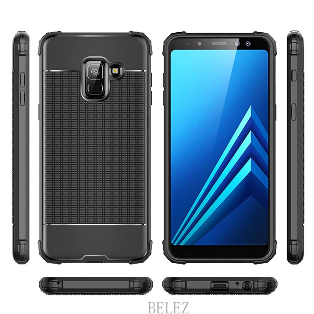 Luxury Carbon Fiber Cover for Samsung Galaxy A8 A6 A750 J4 J6 Plus A9 A6s 2018 Soft Case S7 edge S8 S9 Note 8 9 J2 J3 J5 J7 2017 11