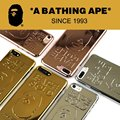 Japão marca bape macaco 3d homem de ouro case para iphone 7 7 além de 6 6 S 6 Mais Um Macaco Banho Pithecanthropus Casos de Telefone Matagal Fundas