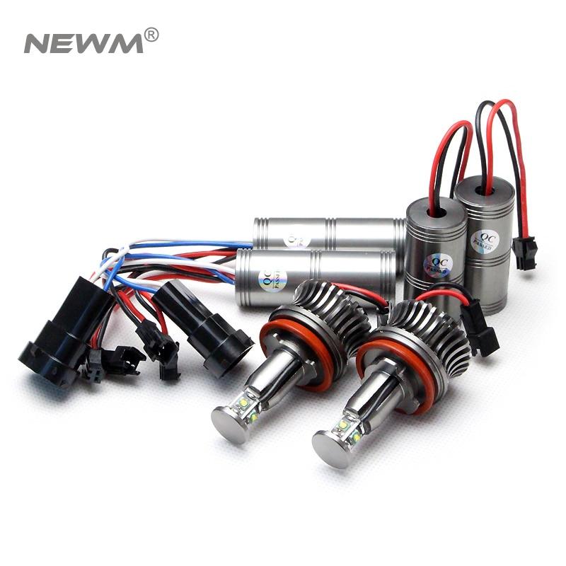 No Error LED 80W Angel Eyes Halo Light H8 Bulb For BMW E90 E92 E82 E60
