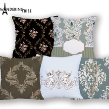Super Soft Flower Vintage Cushion Covers Pillow Covers Decorative 2018 New Throw Pillows Decor For Home Gift Pillow Case almofad geometrics triangles decorative super soft household pillow case