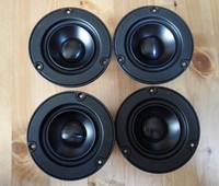 4 pcs Melo david davidlouis audio vifi ne95 hifi 3 inch aluminum cone fullrange speaker desk audio 4 ohm 50W free shipping