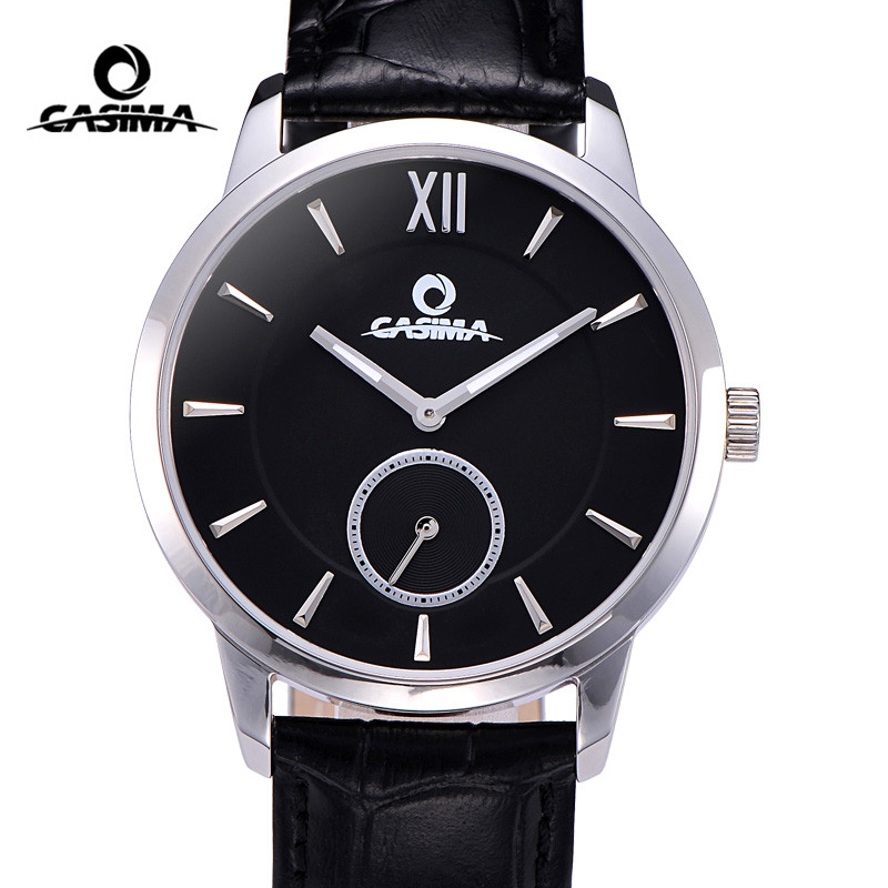 Luxury Brand Watches Fashion Casual Men Black Quartz Wrist Watch Mens Waterproof Clock Man 2017 Hours Reglio Masculino CASIMA new chenxi brand dial male clock hours hand date black leather straps mens quartz wrist watch 3atm waterproof wristwatches man