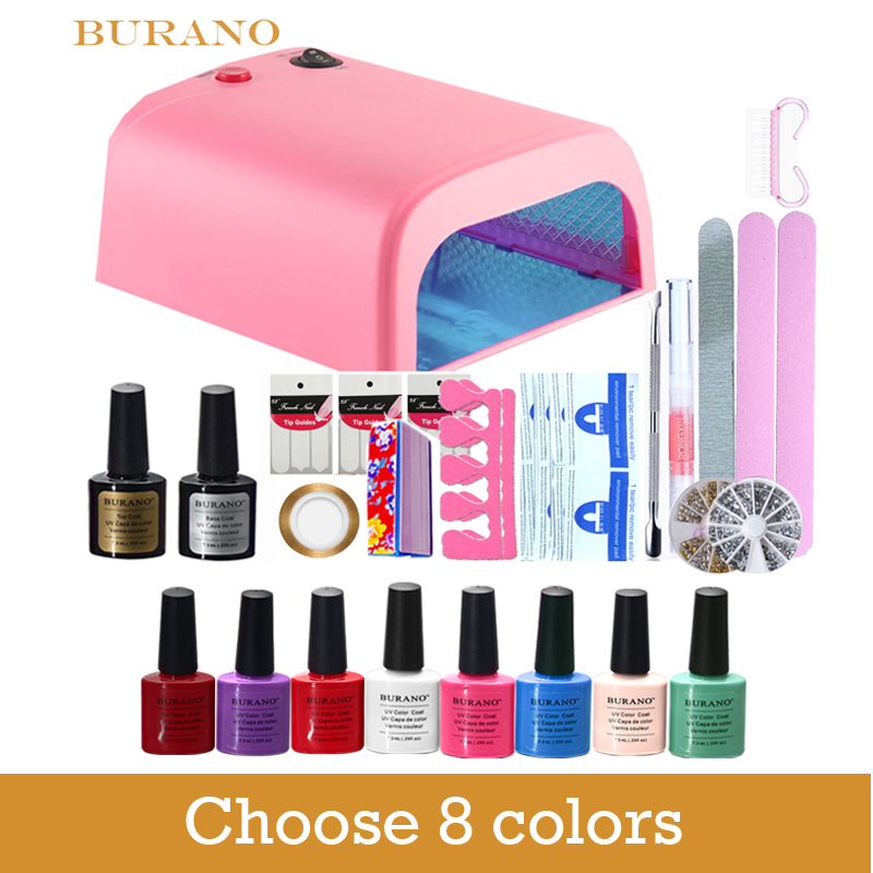 Burano New Arrival Hot Sale Soak off Gel polish gel nail kit nail art tools sets