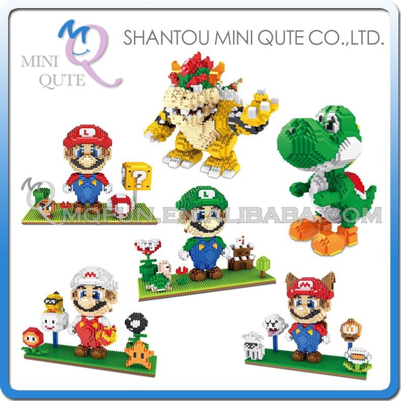 Mini Qute ZMS Anime cartoon kawaii game super mario kids boys girls gift building blocks action figure model educational toy