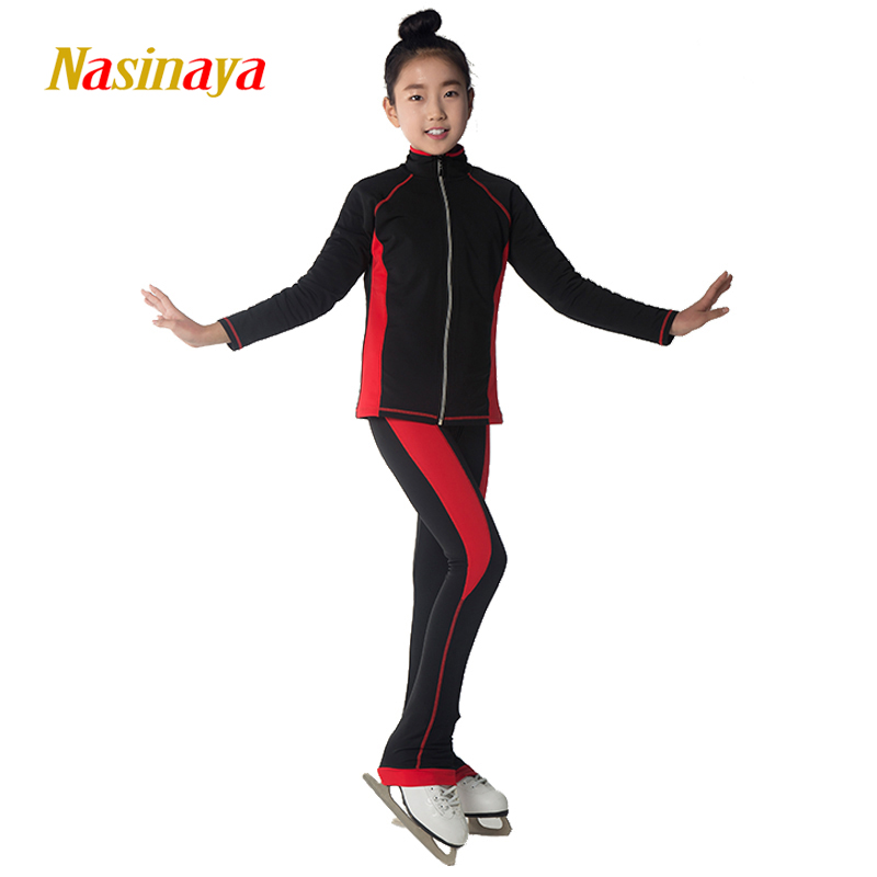 Customized Figure Skating Suits Jacket and Pants Long Trousers for Girl Women Training Patinaje Ice Skating