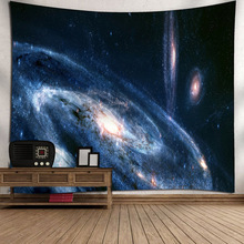 купить 3D Printing Soft Forest Starry Night Tapestry Night Sky Tarot Moon Star Sun Tapestry Home Bedroom Wall Hanging Decorations по цене 569.25 рублей