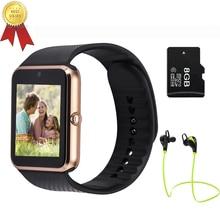 Bluetooth Smart Watch Dfü Anrufen Passometer tragbare geräte Unterstützung SIM Tf-karte Smartwatch gt08 Für Android OS telefon pk dz09 f69