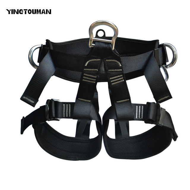 YINGTOUMAN Half Climbing Harness Safety Seat Belt for Rock ...