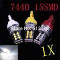 1X7440 T20 LED 15 Canbus LEVOU Fonte de Luz Externa Carro Direção Indicador Lâmpada de Backup Luz de Freio do Automóvel DRL Xenon
