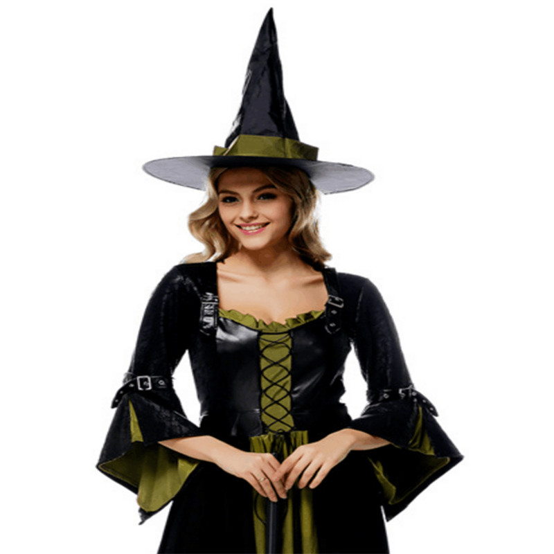luxury adult witch Costume Halloween host theatrical Masquerade dress high quality women magician Cosplay photography clothing
