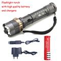 3800LM CREE XM-L T6 5 режима LED Тактический Фонарик Факел водонепроницаемый Лампы Охота Кемпинг Вспышка Света Фонарь Для AAA или 18650