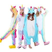 Newest Adults Pajamas All In One Pyjama Animal Suit Cosplay Women Winter Garment Cute Cartoon Animal