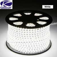 220V 240V SMD 5050 led strip flexible light 5m 10m 15m 20m 25m warm white/white/blue Power plug 60leds/m waterproof led Strips