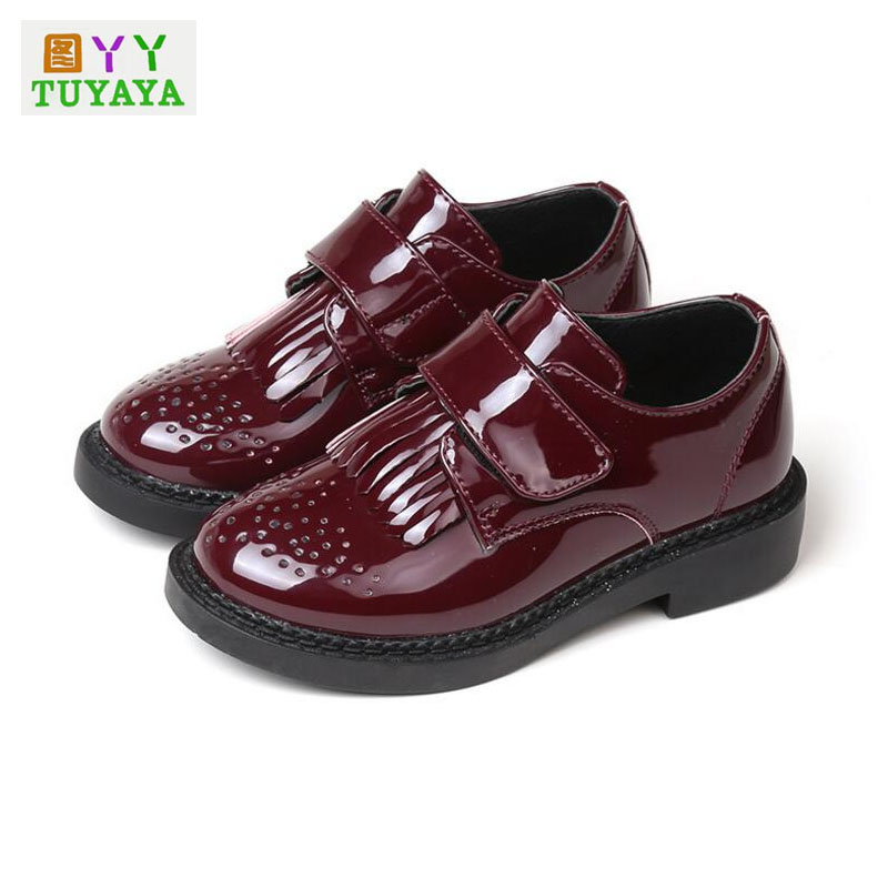 Boys Dress Shoes 2018 New Kids School Shoes Boys Genuine Leather Shoes Baby Moccasins Children Breathable Casual Sneakers