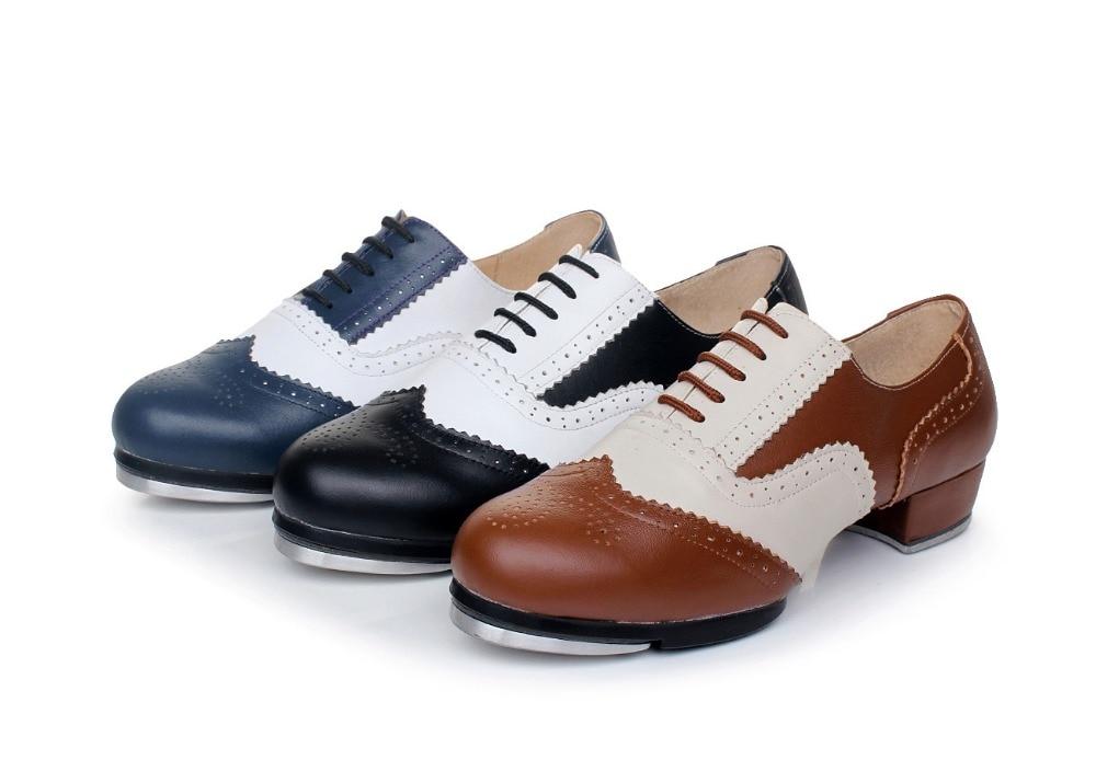 Sports Shoe Woman Quality Genuine Leather Vintage Tap Shoes Jazz Flamenco Dancing Shoe Women Clogging Tap Dance Shoes Sneakers