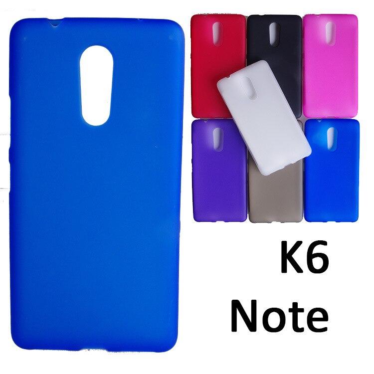 UVR For Lenovo K6 Note Case Dual SIM Mobile Phone Bag Matte TPU Case Cover For Lenovo K6 Note Cover Shell Coque