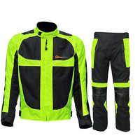 Equitazione tribe estate/inverno moto rcycle mesh traspirante moto di protezione degli uomini del Rivestimento di Corsa Riflettente moto giacche pantaloni in Jersey