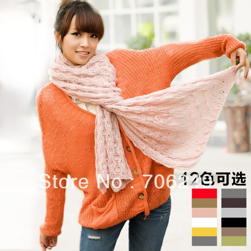 FREE SHIPPING,acrylic scarf, fashion ladies knitting scarf ...