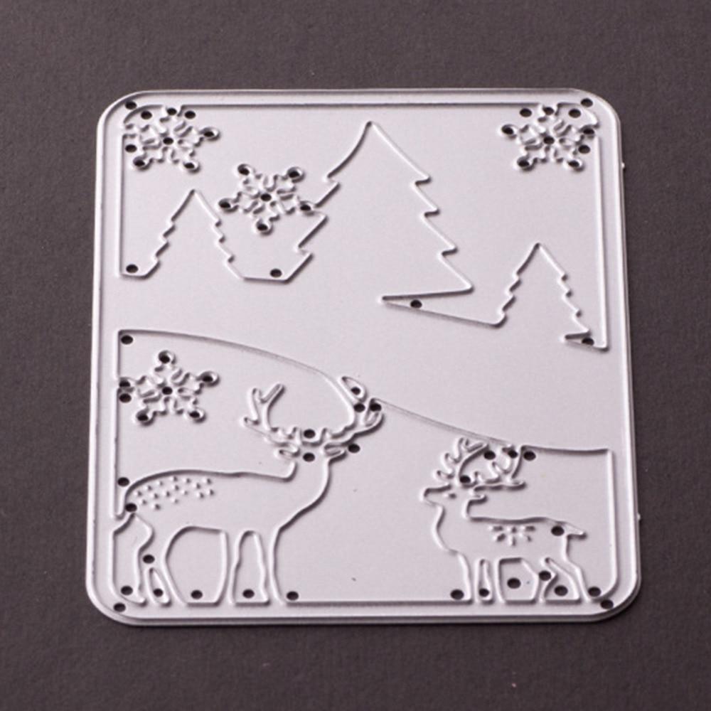 DIY Metalli lõikamispaberid Šabloonid Metsad Hirved Elks - Kunst, käsitöö ja õmblemine - Foto 3