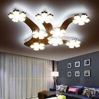 Nordic simples moderno CONDUZIU a lâmpada do teto sala de estar quarto personalidade criativa plum blossom ramo lâmpada do teto frete grátis Luzes de teto     -