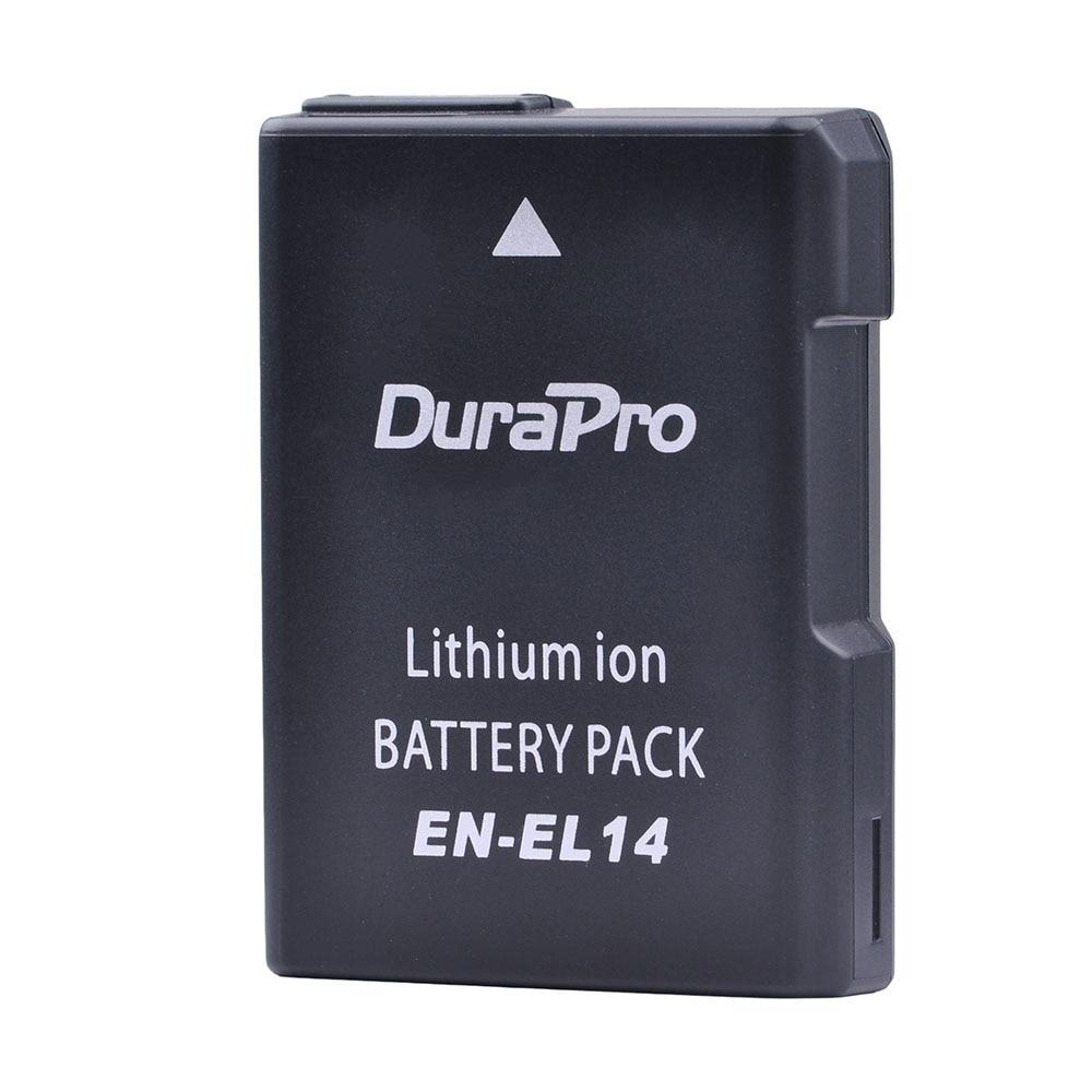 DuraPro EN-EL14 EN EL14 EN-EL14a Lithium Rechargeable Battery Pack for Nikon P7800 P7000 D5500 D5300 D5200 D3200 3100 Df bateria nivea гель для умывания для чувствительной кожи 100 мл