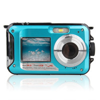 HD 1080P 24MP Double Screen 16x Zoom Underwater Digital Video Camcorder Camera Free Shipping