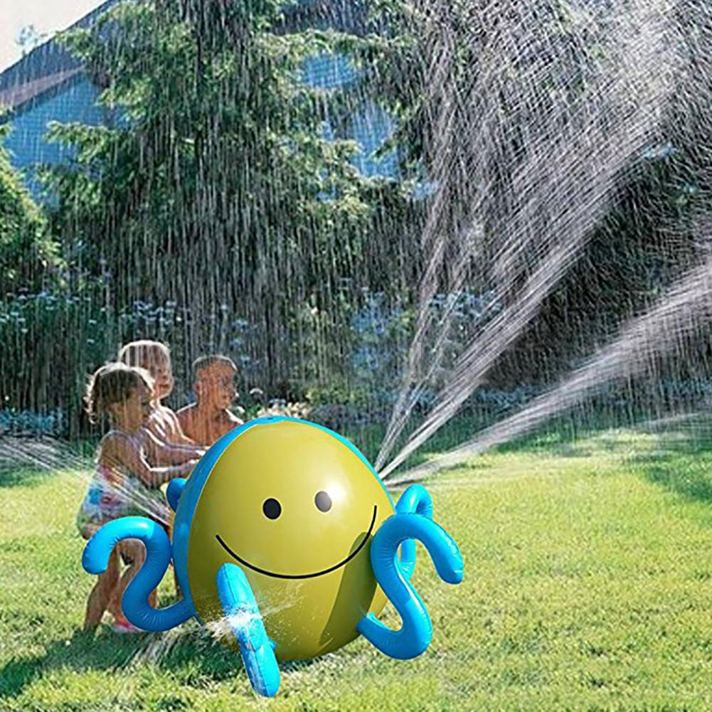 Inflatable Water Spray Ball Sprinkler Octopus Squirt Lawn Pool Toy Fun Outdoor Swim Pool Spray Water Polo For Kids Toys mini wrist squirt water gun gaming toys for outdoor