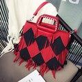 Hot Sale Fashion Women Suede Weave Tassel Shoulder Bag Messenger Bag Fringe Handbags High Quality