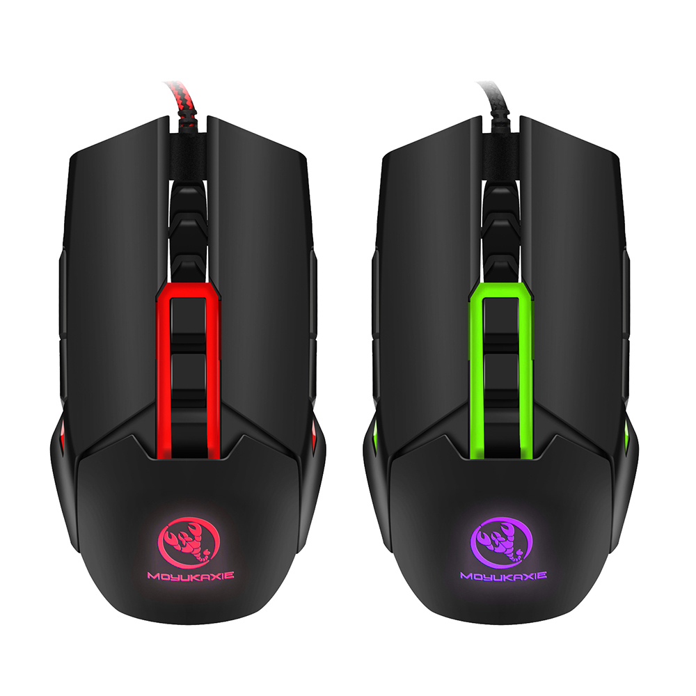 S400 Mechanical Macros Define Gaming Mouse 3200DPI Wired Glowing Mouse Gamer With Four Color Backlight For Computer-in Mice from Computer & Office