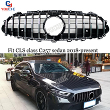C257 GT Grill ABS Replacement Front Grille For Mercedes CLS Class 4-Door Sedan 2018 - Present CLS300 CLS350 CLS450 CLS500