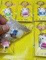 FRETE grátis por FEDEX 100 pçs/lote 2015 3D Silicone Olá Kitty Olá Kitty Chaveiros Chaveiros para Presentes
