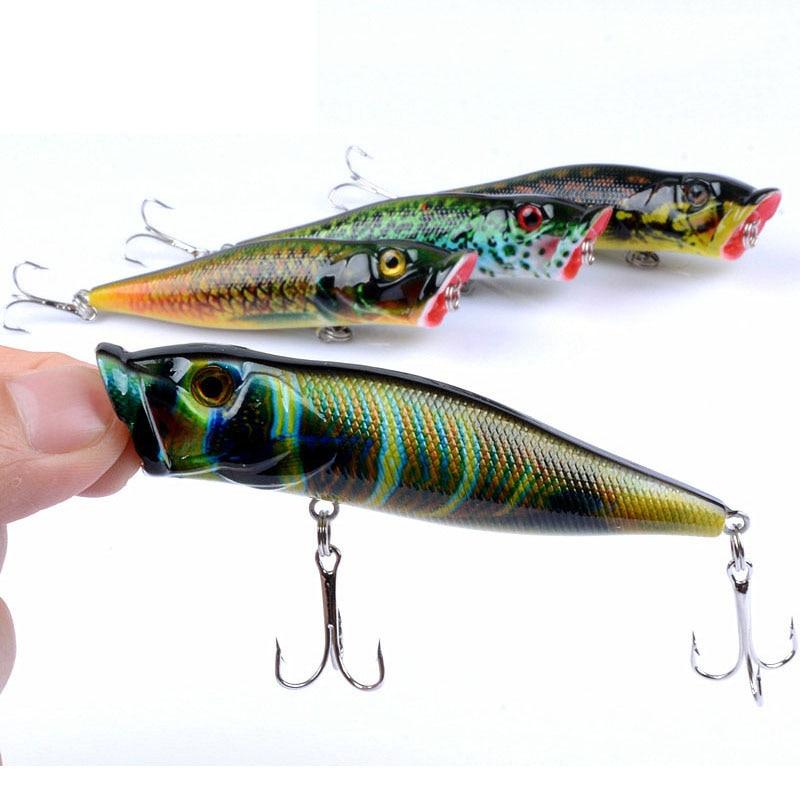 Free Shipping 4Pcs/Lot 9.5cm_12g Topwater Fishing Lure Artificial Popper Hard Bait Easy Shiner Wobbler Whopper Plopper YU015|Fishing Lures|   - AliExpress