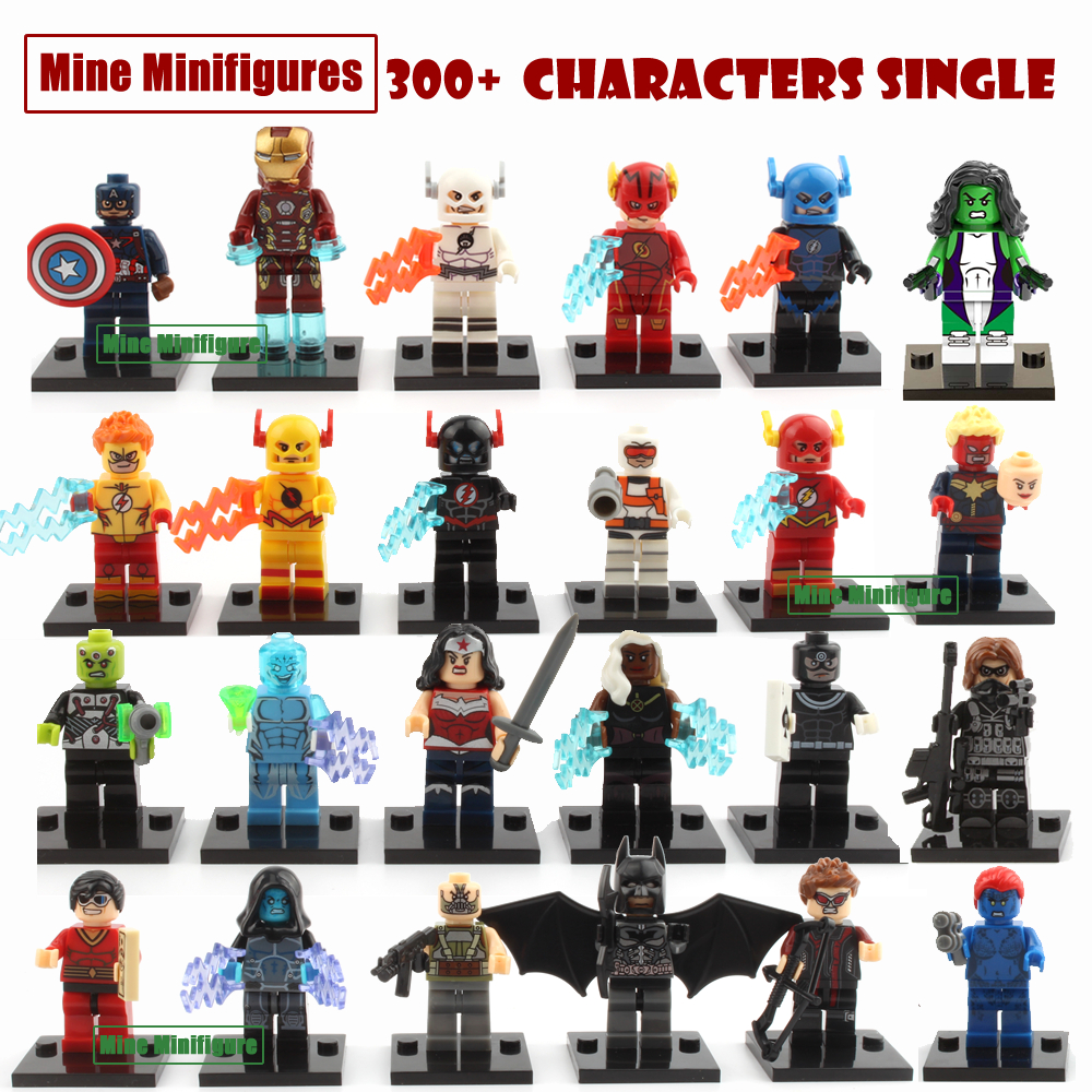 The avengers marvel dc super heroes single sale action mini figures building...