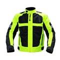 Ясно Складе! мужская Куртка Мотоцикла Мотокроссу Безопасности Светоотражающий Слой Спортивной Защитное Снаряжение-Флуоресцентный Зеленый