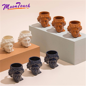 400ml Ancient Greek Idol Apollo Mug Creative Ceramic Water Mug Personalized Coffee Mug Handmade Europe Style Wide Mouth Design