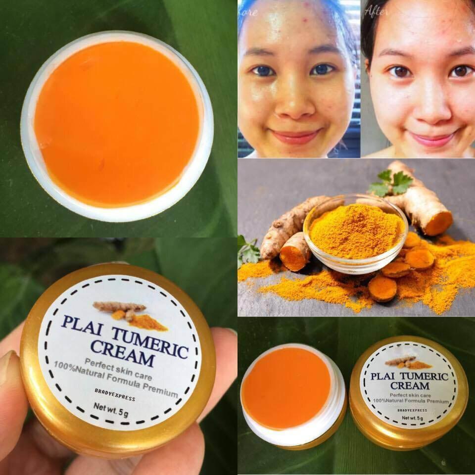 Turmeric Plai Whitening Cream Nourishing Face Skin Dark Spot Night Cream 5g FREE SHIPPING