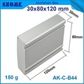 1 piece hot selling aluminium box for electronic project in silver color 30* 80*120 mm