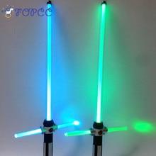 Cosplay Prop Sabre Shine Sound Gyermekek szabadban Lightsaber Játékok Star Wars Lézer Kard Fiú Gril Flashing Ajándék