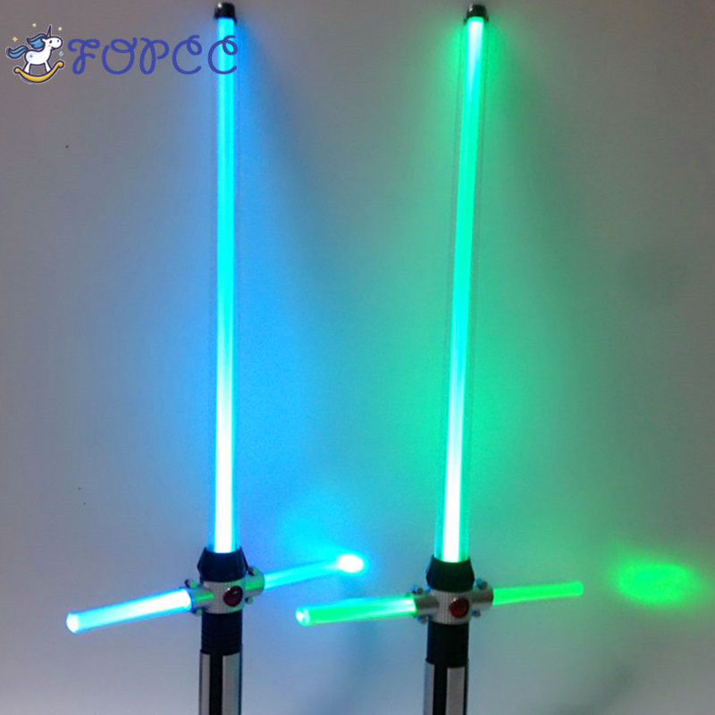 Cosplay Prop Saber Shine Sound Children's Outdoors Lightsaber Toys Star Wars Laser Sword Boy Gril Flashing Gift