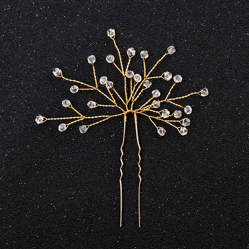 Vintage Gold Red Crystal Hair Jewelry Bridal Hair Pins Clips Hair Ornaments Headpiece Tiara Wedding Accessori