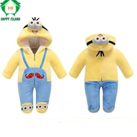 Brand 7 Styles Lovely Gift Baby Animal Cartoon Rompers Newborn Baby Warm Costume Soft Winter Flannel