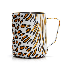 Creative Stainless Steel Coffee Pitcher For Espresso Mugs Leopard Style Frothing Jug Barista Craft 350ml 600ml