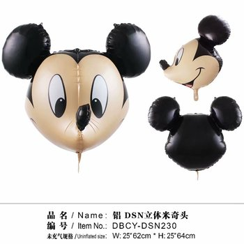 50pcs 3D Minnie Mickey foil balloons Pink Bowknot Minnie Head balloons wedding birthday party decor supplies kids toys cartoon