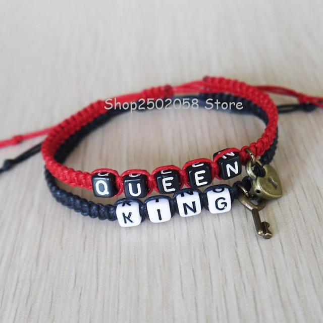f8feef602b New King Queen Couples Bracelets , Key Lock Loves Bracelet, Anniversary Gift,  Boyfriend girlfriend jewelry
