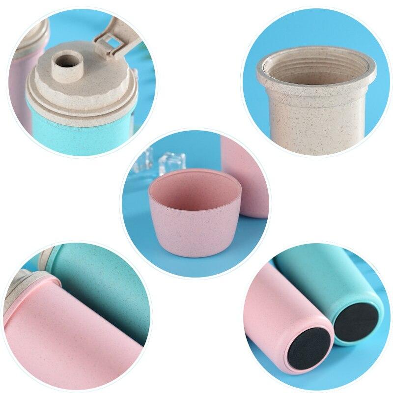 4986d55c6e9 1 x Wheat water bottle. HOMETREE 450ml My Water Cup Cola Coffee Mugs Wheat  Straw Plastic Healthy Drink Bottle Lid ...