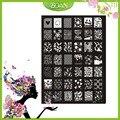 10 Unids Nuevo Diseño BQAN Corona De Acero Inoxidable/la Serie de Flores/Diamante Imágenes Nail Plate Estampación XY20